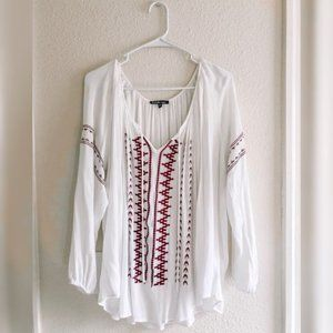 Boho Style Flowy Shirt by Charlotte Russe